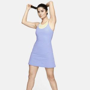 OV Exercise Dress w. Leotard Liner in Pale Iris